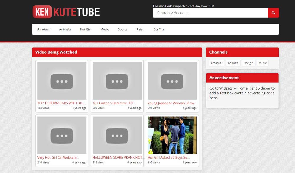KuteTube Layout