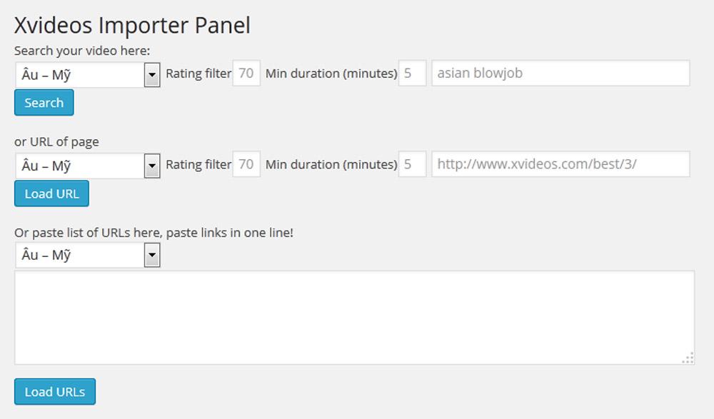Xvideos Importer Embedder Plugin Layout