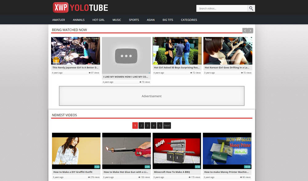 YoloTube Layout