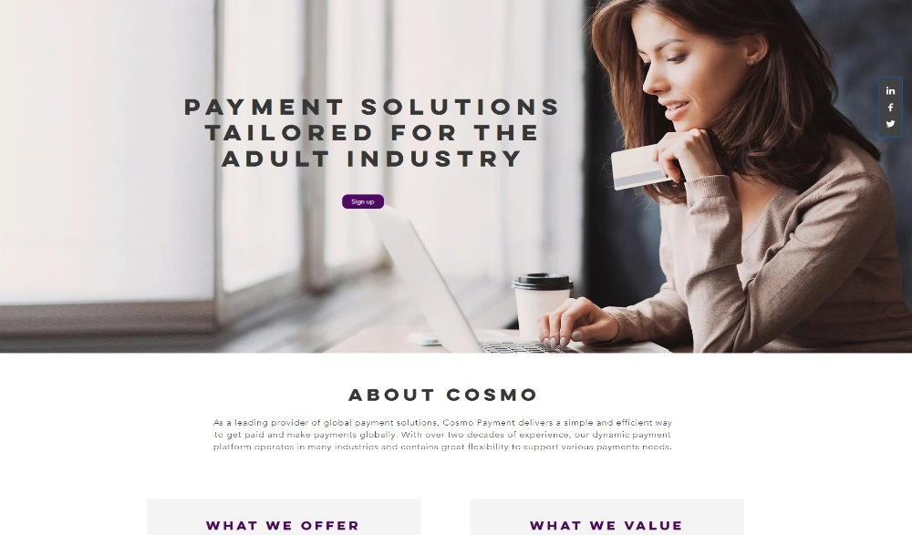 CosmoPay Layout