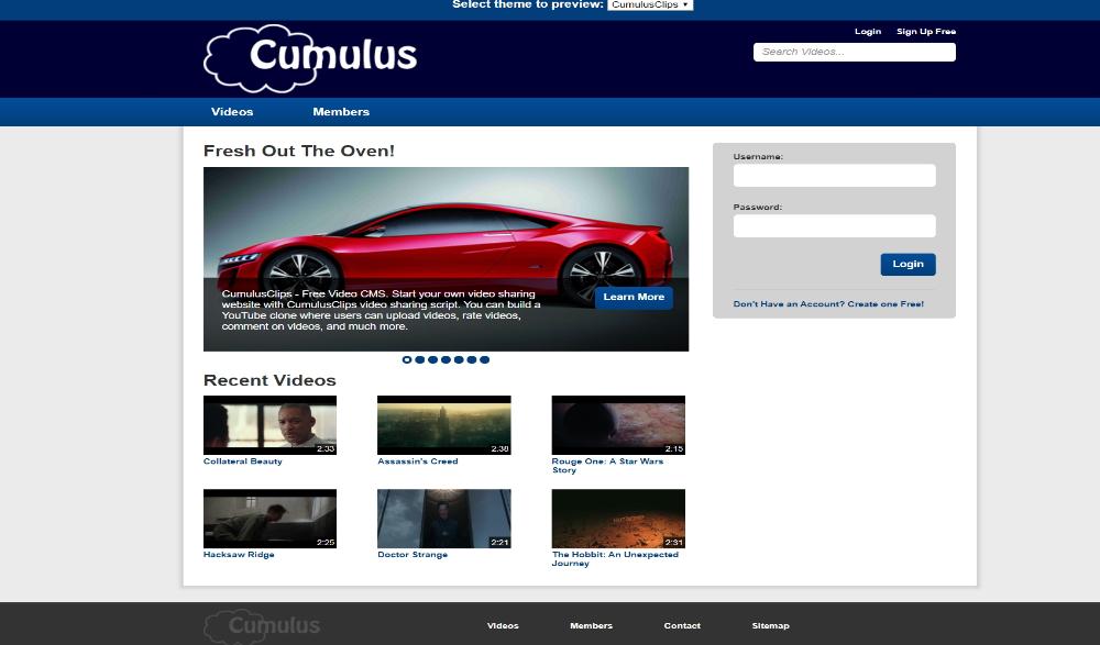CumulusClips Layout