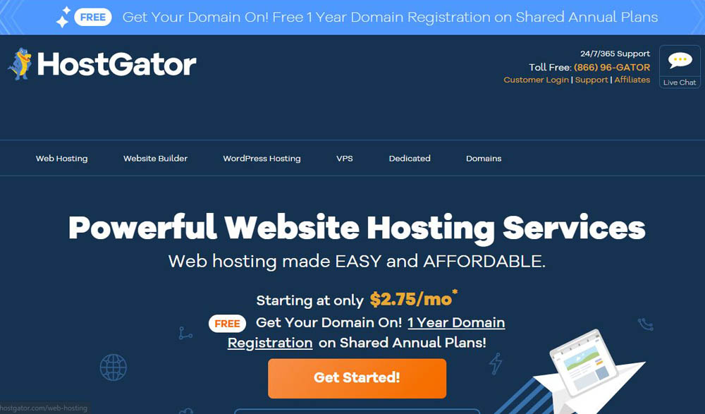 HostGator Layout