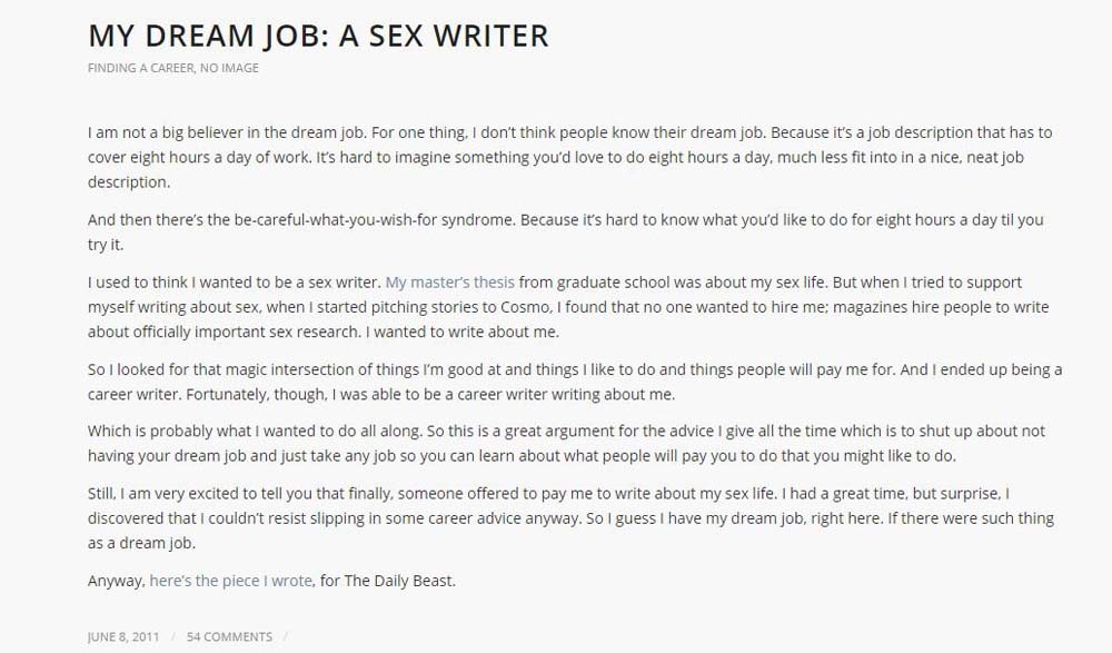 How To Become A Porn Writer- Job application