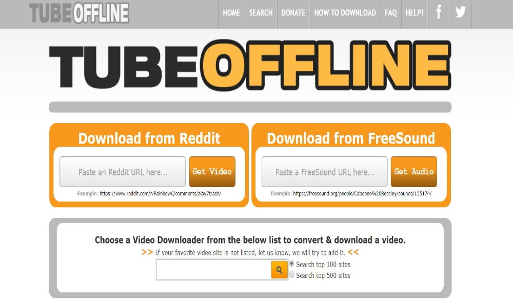 TubeOffline Layout