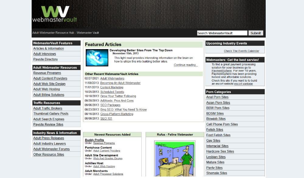 WebmasterVault Layout