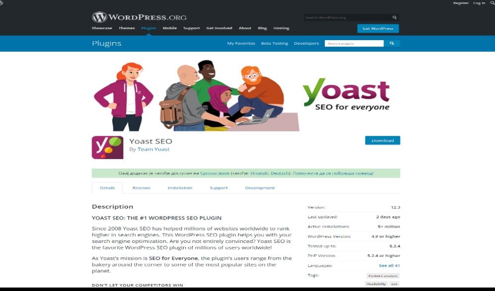 Yoast SEO Layout