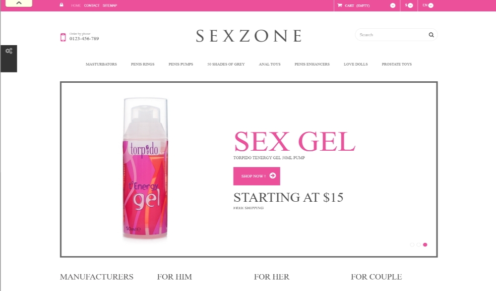 SexZone Layout